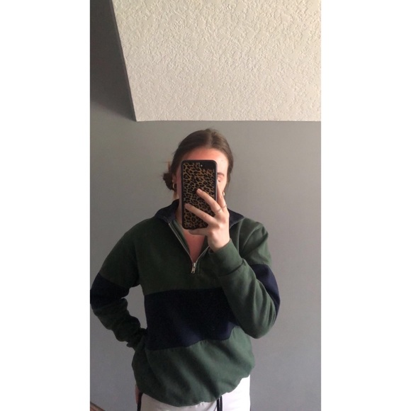 Brandy Melville Quarter Zip Sweater